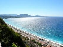 Coast of Rhodes island stock image