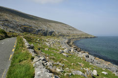 Coast Road at Black Head. The Coast Road at Black Head, The Burren, Co. Clare, Ireland Royalty Free Stock Images