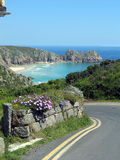 Coast road, Cornwall Royalty Free Stock Photos