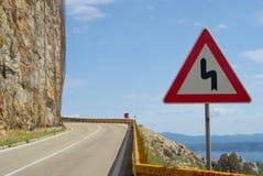 Coast road Makarska Stock Photography