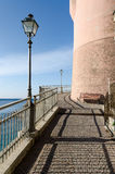 Coast road to Genoa. Coast road in Sori to Genoa in Italy Royalty Free Stock Photos
