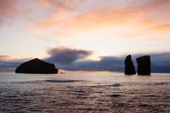 Coast and rocks at Mosteiros,Azores Royalty Free Stock Photos