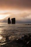 Coast and rocks at Mosteiros,Azores Stock Photos