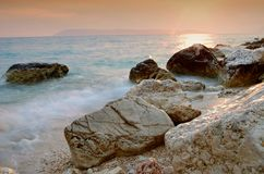 The coast with rocks in Tucepi Royalty Free Stock Photography
