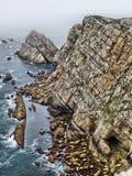 Coast. Rocky coast bathed by the Cantabrian Sea.  Asturias.  Spain Royalty Free Stock Photo