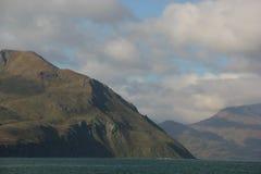 Coast. The rugged coast of the island of Unalaska in the Aleutian chain, Alaska, USA Stock Image