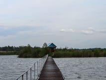 Coast Russian river Shan in the Kaluga region. Royalty Free Stock Image
