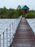 Coast Russian river Shan in the Kaluga region. Stock Image