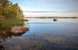 Coast of Saimaa lake Stock Image