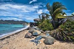 Coast in Saint Maarten Island Royalty Free Stock Photography