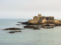 The coast Saint Malo and Fort National Stock Photos