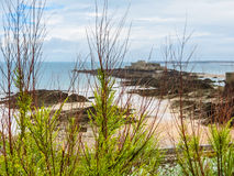 The coast Saint Malo and Fort National Royalty Free Stock Images
