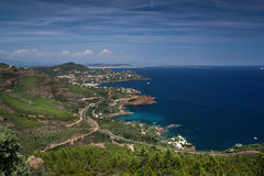 Coast of Saint-Raphaël, French Riviera Royalty Free Stock Photo