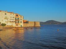 The coast of Saint-Tropez, France. stock image