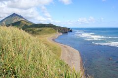 Coast of Sakhalin Island Royalty Free Stock Image