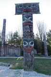 Coast Salish nation totem pole Stock Image