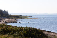 Coast in Salling, Denmark. View at the coast in Salling, Denmark Royalty Free Stock Images