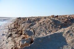 Coast salt lake in the desert Stock Images