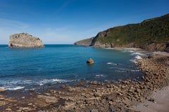 Coast in San Juan de Gaztelugatxe Stock Photography