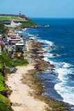 Coast of San Juan, Puerto Rico Stock Image