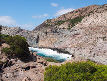 Coast, san pietro, sardinia, italy Royalty Free Stock Image