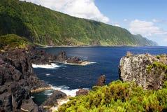 Coast on Sao Jorge island Stock Photo