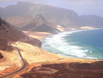Coast of Sao Vicente, one of the islands in the Cape Verde archipelago