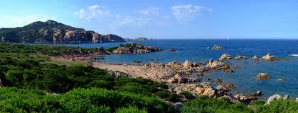 Coast in Sardinia Stock Image
