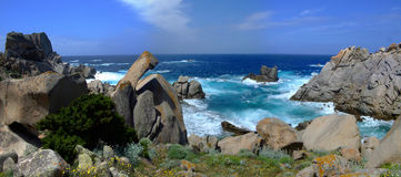 Coast in Sardinia. With beautiful sea Royalty Free Stock Photo