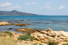 Coast in sardinia royalty free stock images