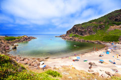 Coast of Sardinia, sea, sand and rocks Royalty Free Stock Photo