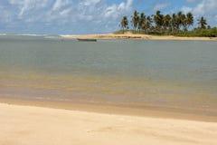 The coast of Sauipe on Bahia, Brazil. The coast of Sauipe on Bahia in Brazil royalty free stock photography