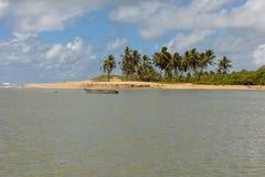 The coast of Sauipe on Bahia, Brazil. The coast of Sauipe on Bahia in Brazil stock photo