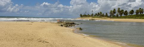 The coast of Sauipe on Bahia, Brazil. The coast of Sauipe on Bahia in Brazil stock image