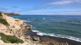 Coast scenery from Mahaulepu Trail stock video