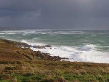 Coast and sea in Cap Sizun royalty free stock image