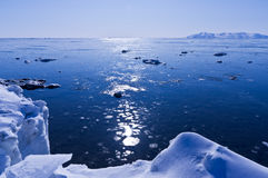 Coast of the Sea of Okhotsk Royalty Free Stock Images