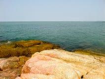 Coast and the sea Royalty Free Stock Photography