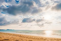 Coast of the sea at sunset, Khao Lak, Thailand royalty free stock photo