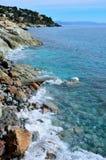 The coast at sea of Varazze Stock Photos