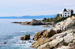 The coast at sea of Varazze Stock Images