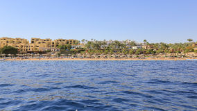 Coast Sharm El Sheikh resort. View from the sea Royalty Free Stock Image