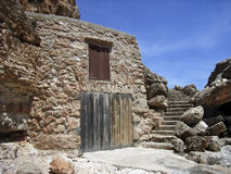 Coast Shelter. Fishermen refuge in the coast of Majorca (Spain Royalty Free Stock Images