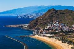 Coast or shore of Atlantic ocean and beach Stock Image