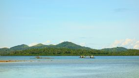 The coast of Siargao Island. Siargao Island in the Pacific Ocean, Philippines Royalty Free Stock Photography