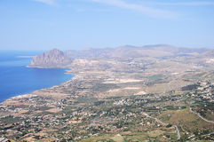 Coast of Sicily. Royalty Free Stock Photo
