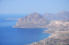 Coast of Sicily. Royalty Free Stock Photo