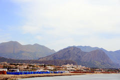 Coast of Sicily. Mountains along the coast of Sicily, Italy Stock Images