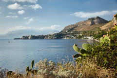 Coast of Sicily Royalty Free Stock Photography