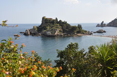Coast of sicily with small island Stock Photography